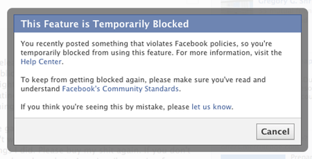Blocked by Facebook
