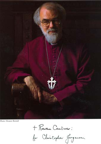 Scan of a photo of Archbishop, of Canterbury, Dr. Rowan Williams
