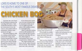 Scan of the article about chicken bog from Loris
