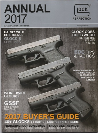 Scan of 2017 GLOCK, Inc. catalog.