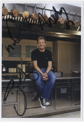 A scan of the letter from Gordon Ramsay