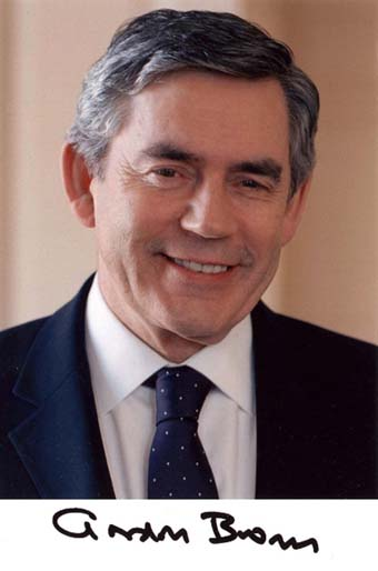 Scan of the photo from Gordon Brown