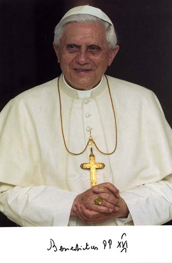 Scan of a photo from Pope Benedict XVI