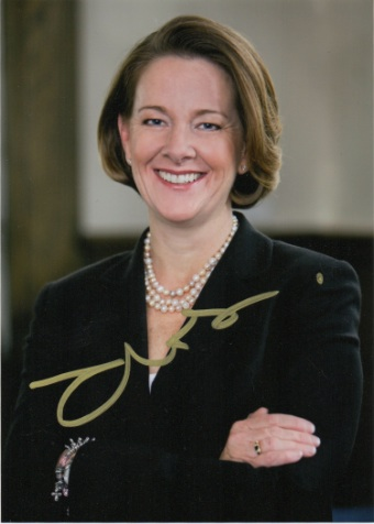 Scan of the photo of Premier Alison Redford