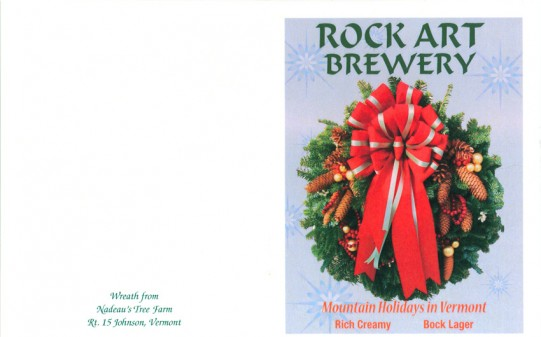 Scan of the front of the card from Rock Art Brewery
