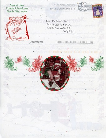 Scan of the letter from Santa
