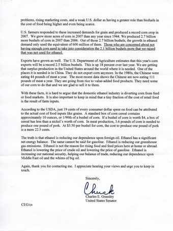 Scans of the letters from Sen. Chuck Grassley