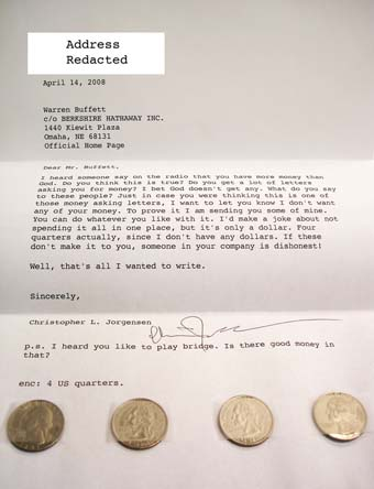 Scan of the letter to Warren Buffett