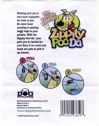 Scans of the letters from Zippity-Poo-Da