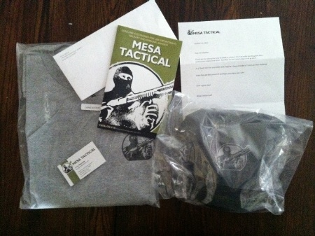 A picture of the swag from Mesa Tactical