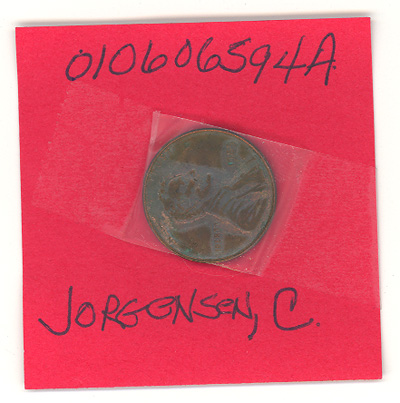 Scan of the penny sent to Snickers