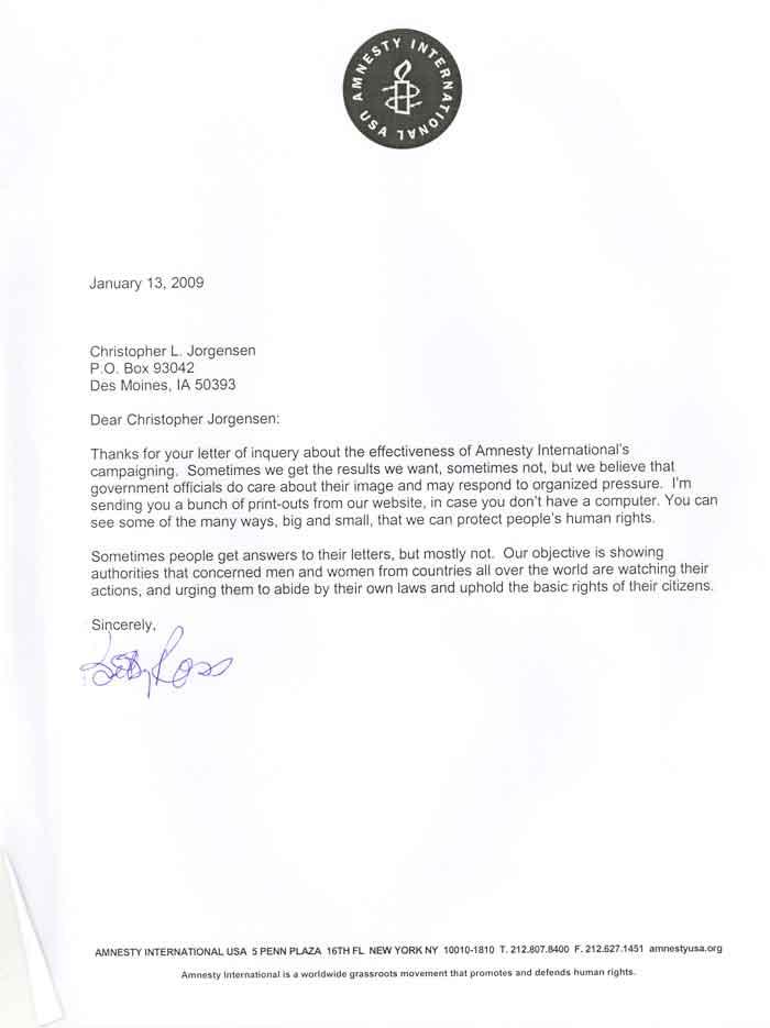 Jackass letters dear amnesty international scans of the letter from amnesty international ccuart Gallery