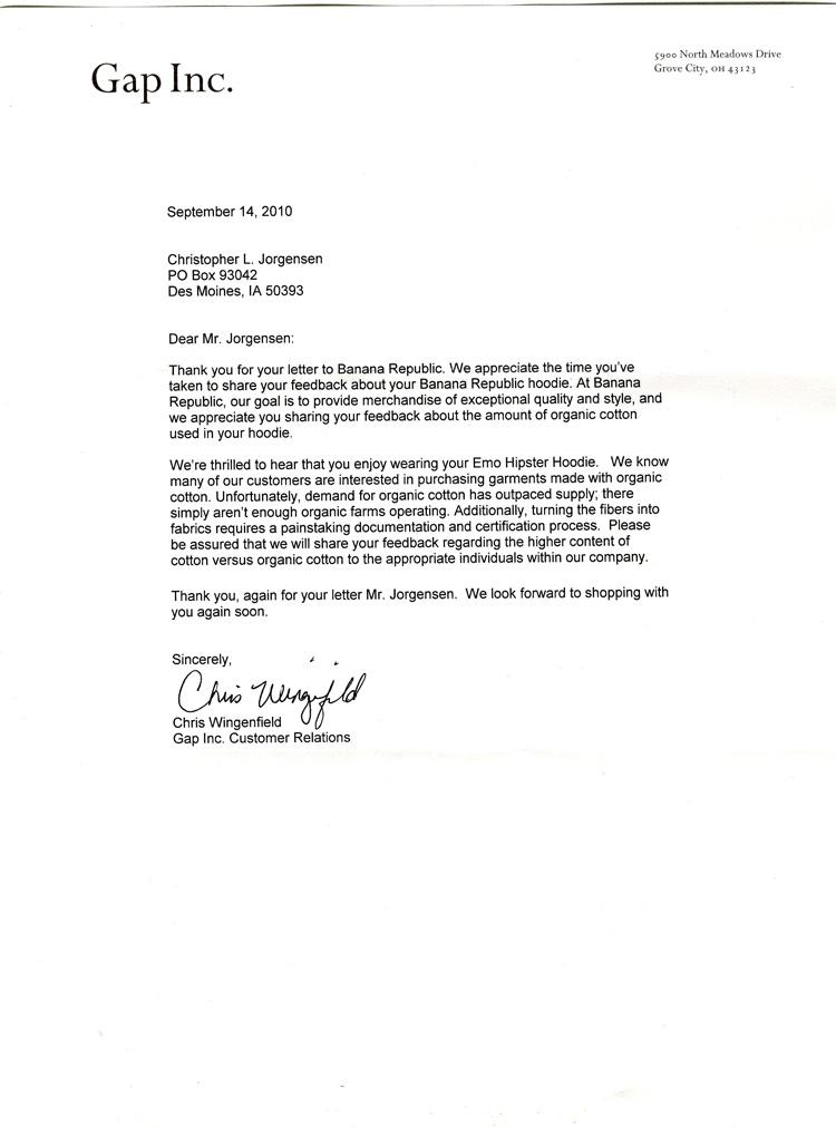 Jackass Letters Dear Banana Republic