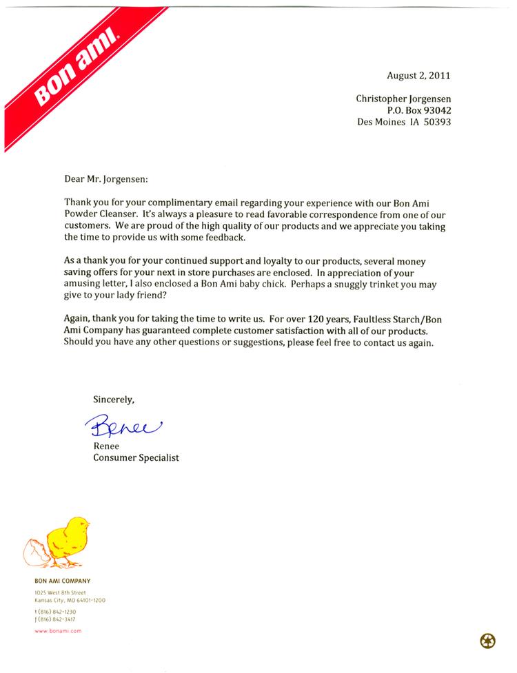 Jackass Letters Dear Bon Ami