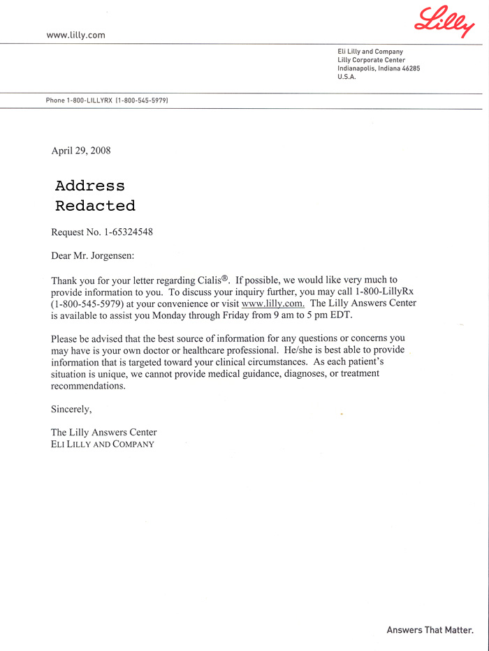 jackass letters dear cialis. Black Bedroom Furniture Sets. Home Design Ideas