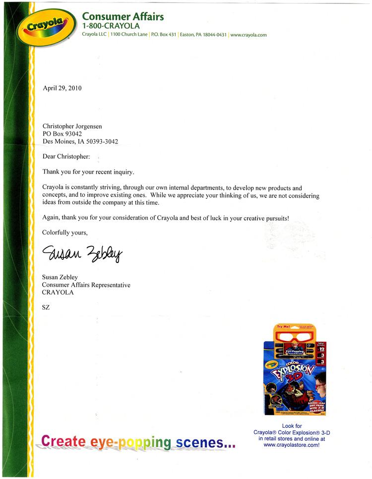 Jackass Letters: Dear Crayola Crayons