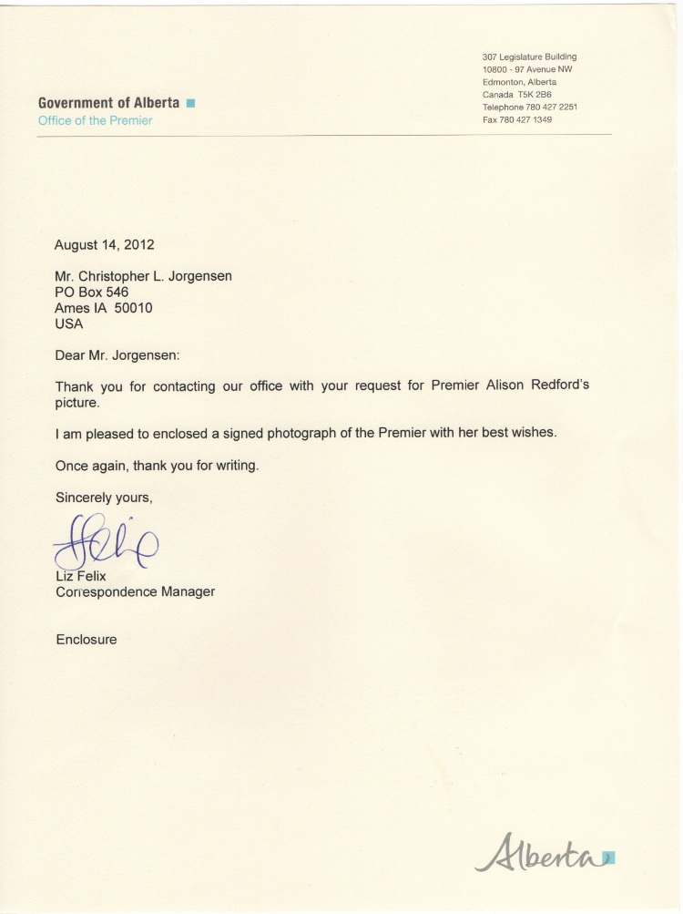 Jackass Letters Dear Premier Alison Redford