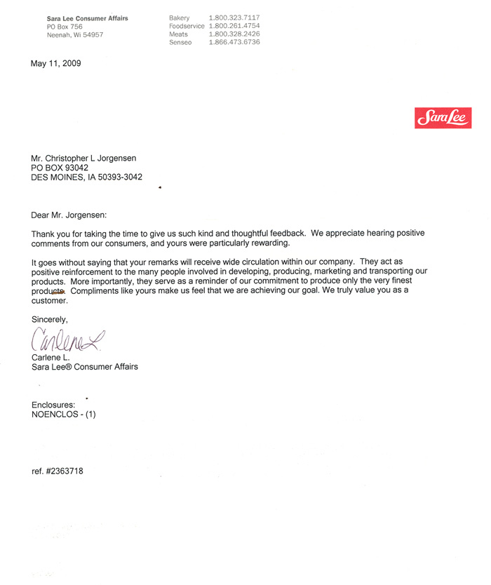 Jackass Letters Dear Sara Lee