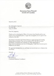 A letter to Gov. Parnell (AK)