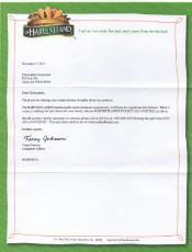 A letter to Harvestland