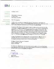 A letter to State Bar of Michigan