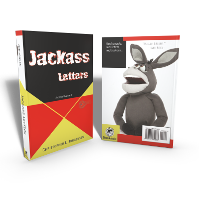 Mockup of the cover of the book Jackass Letters: Archive Volume 1