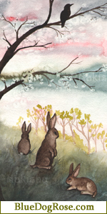Here you will find Little White Rabbit paintings, bunny art and watercolors, the Rabbit Tarot, original animal sculptures and more! The Art of Nakisha Elsje VanderHoeven.